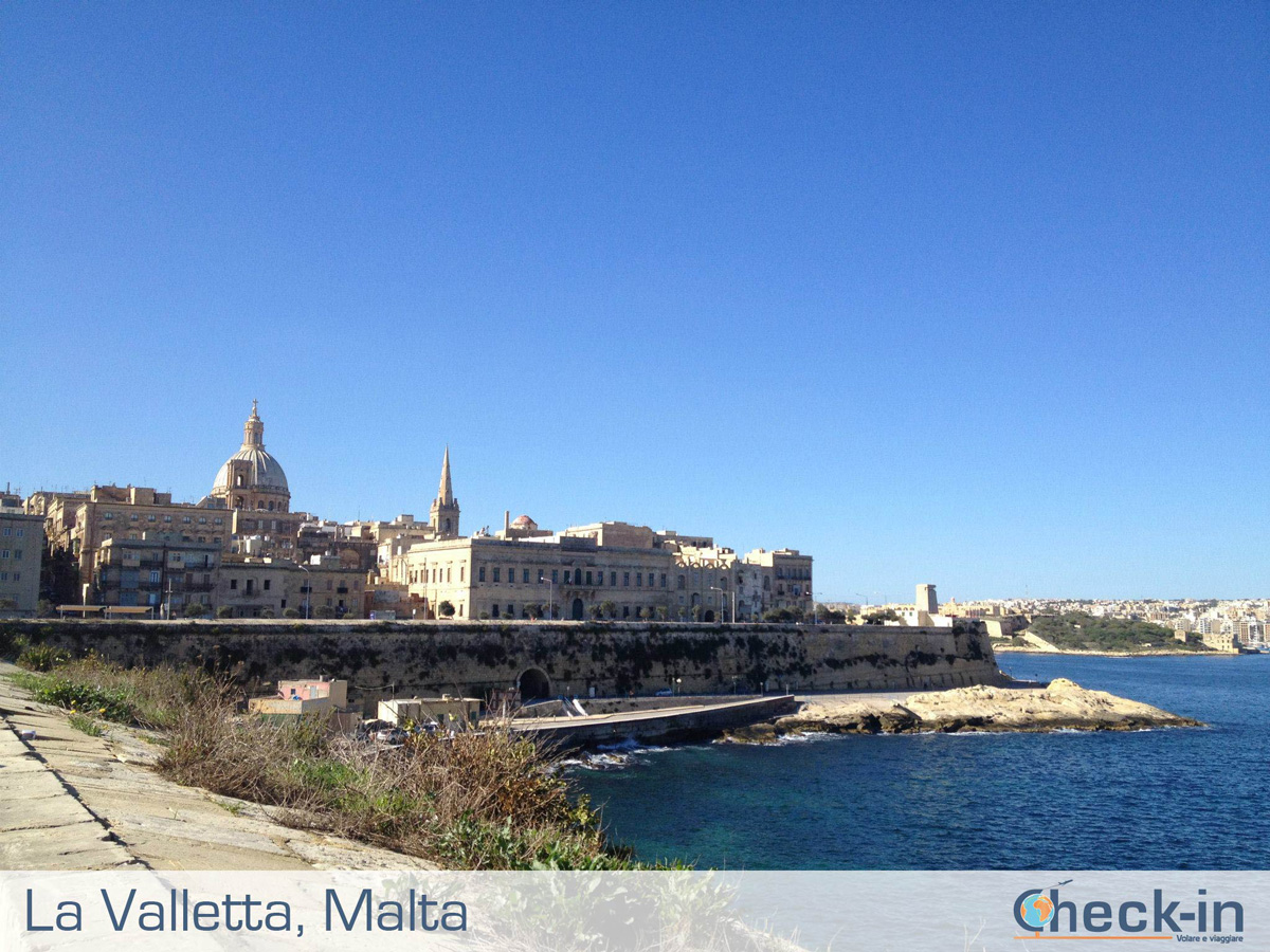 Vista di La Valletta a Malta