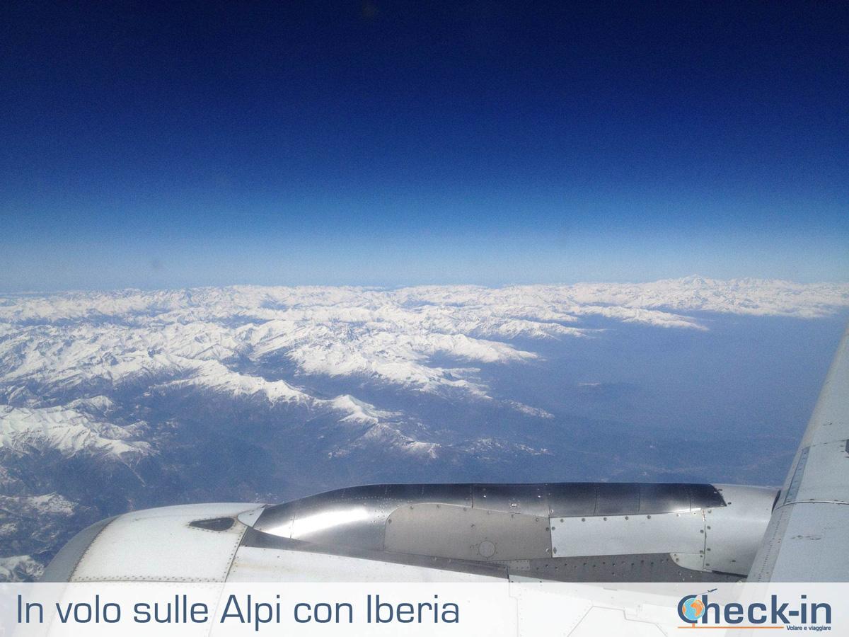 In volo con Iberia verso Madrid