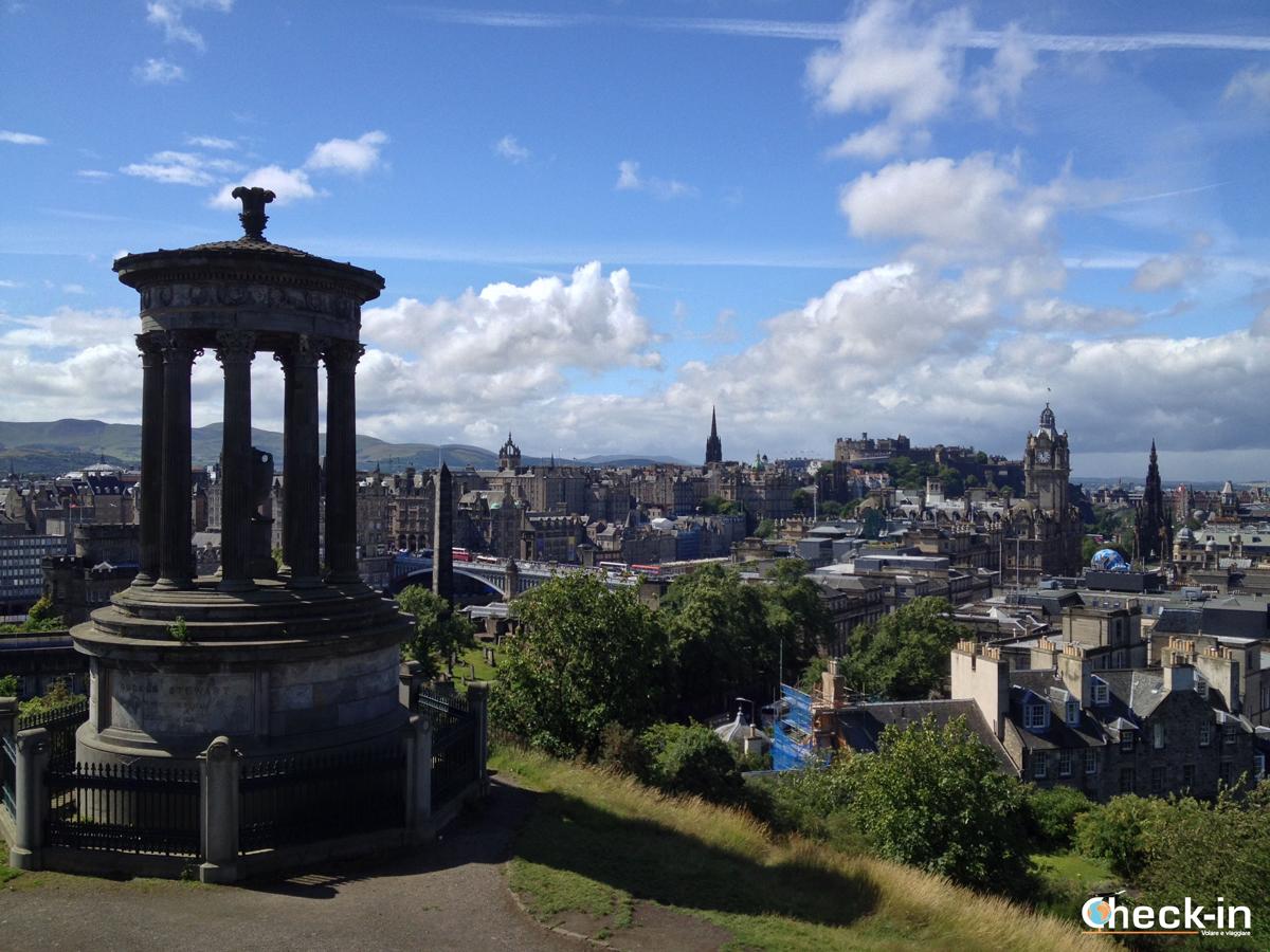 Cartolina di Edimburgo da Calton Hill