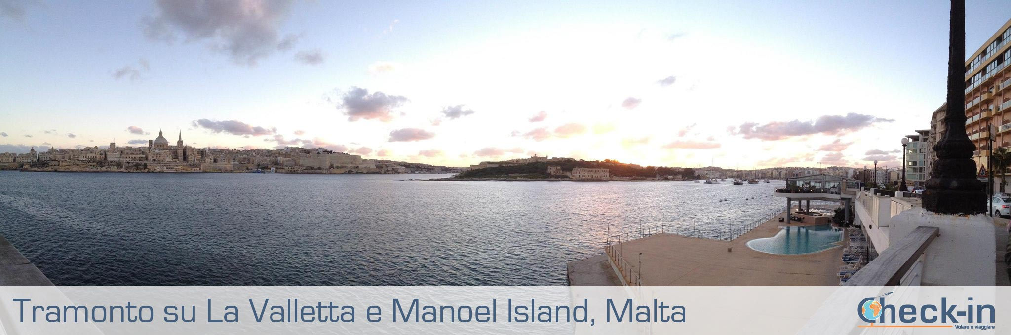 Malta e Gozo: tramonto su La Valletta e Manoel island