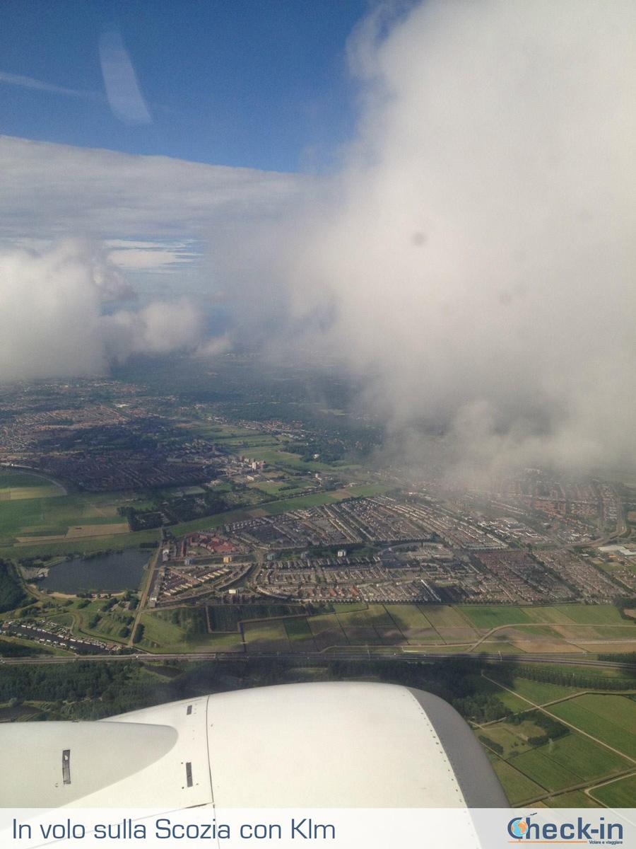 In volo con Klm sulla Scozia