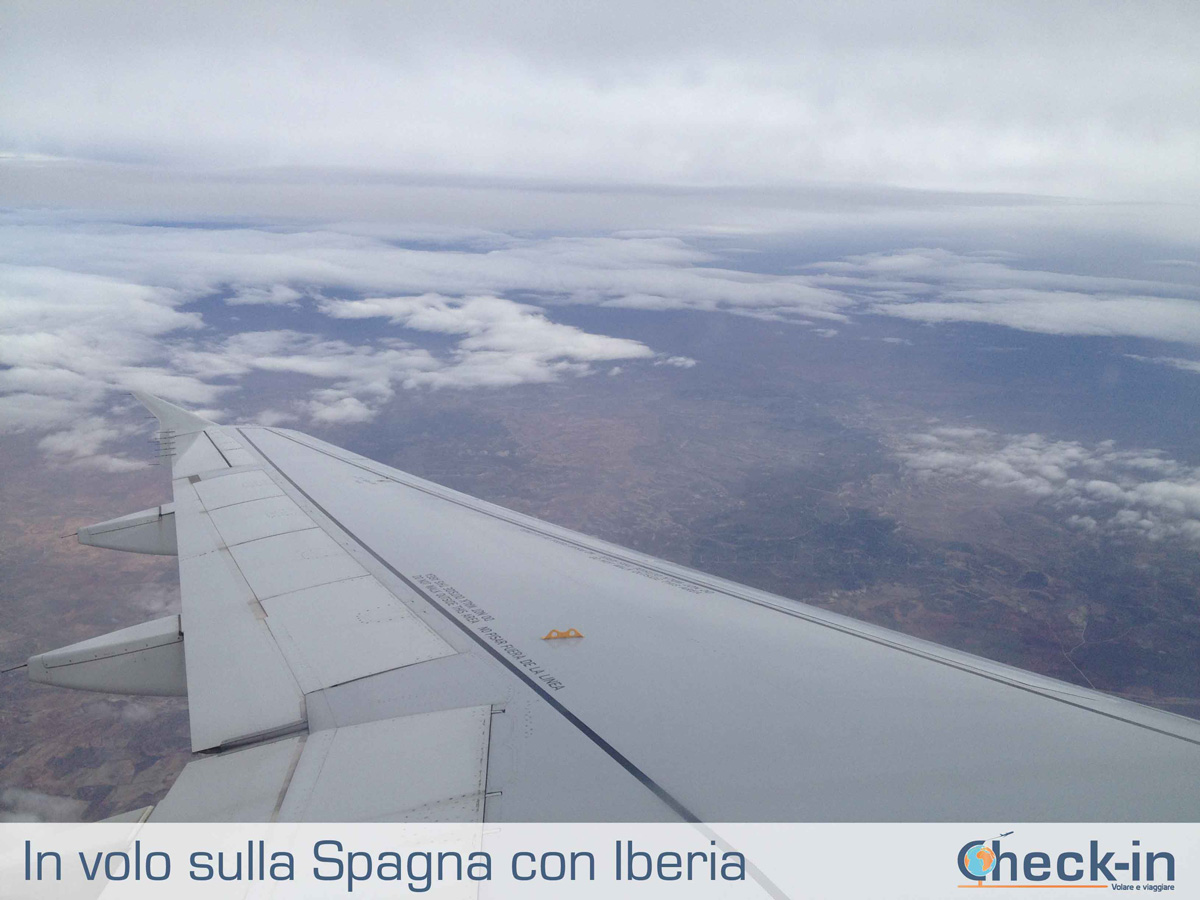 In volo con Iberia sulla Spagna di ritorno da Bruxelles
