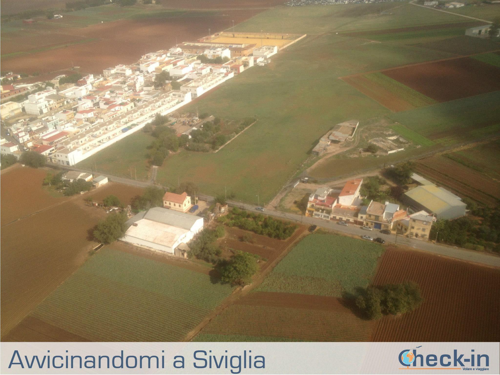 In fase di atterraggio a Siviglia con Ryanair
