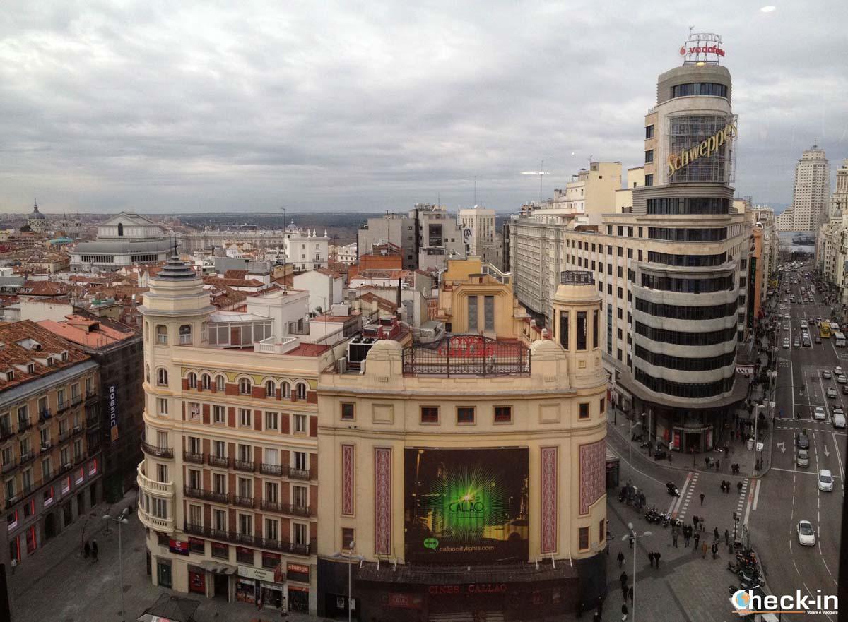 5 cose da fare a Madrid: vista panoramica da Callao