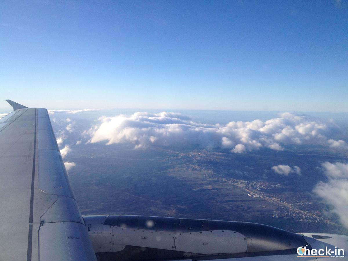 In volo da Madrid verso Tenerife