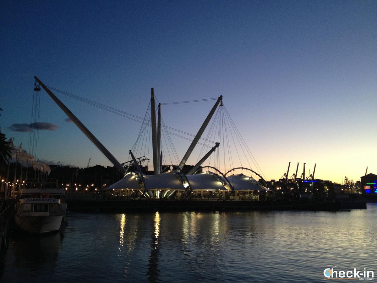 Il Bigo ed il Porto Antico di Genova by night