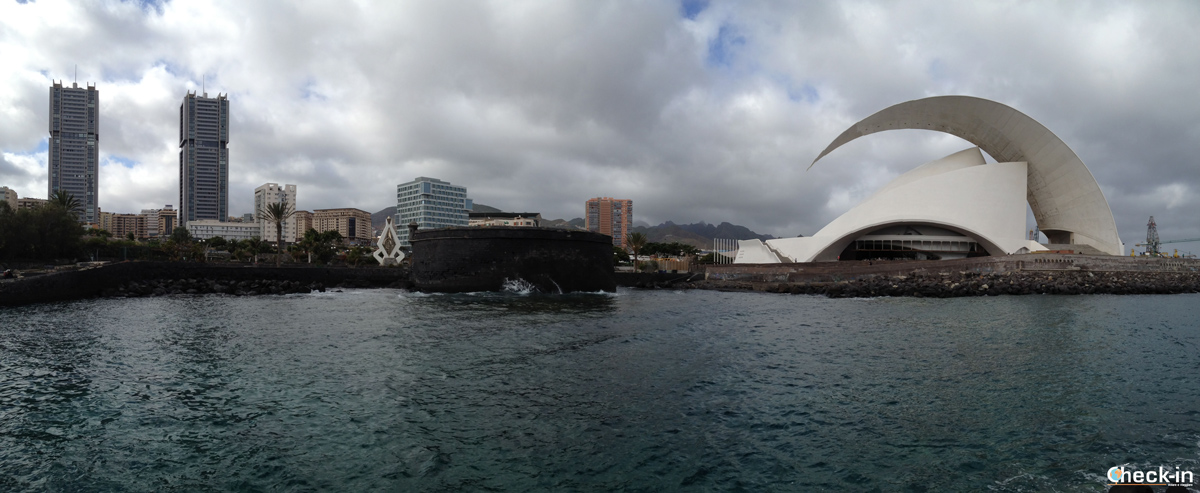 La skyline di Santa Cruz de Tenerife