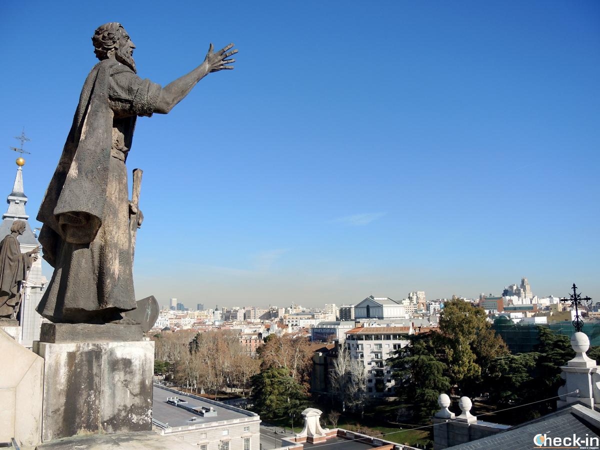 Vista panoramica su Madrid dalla Cattedrale dell'Almudena