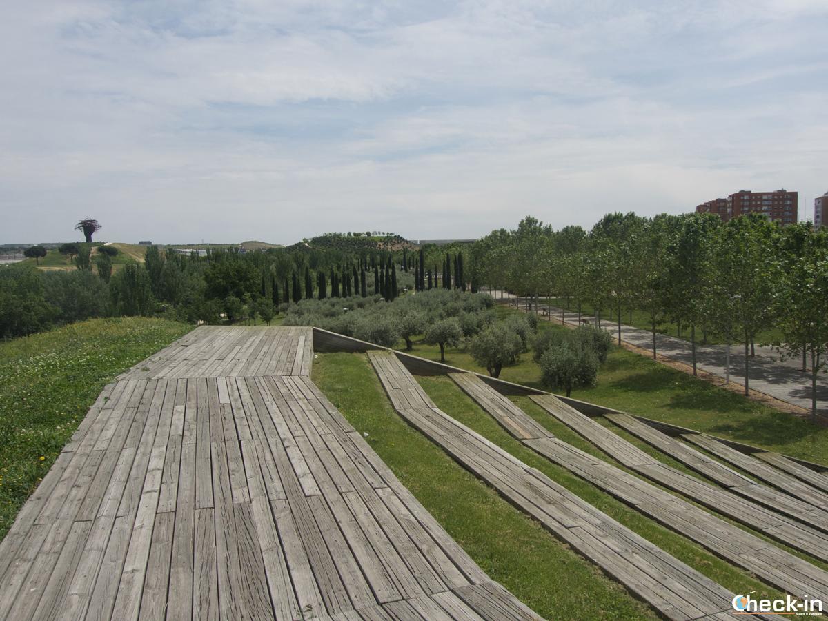 Punti panoramici su Madrid: Plaza Verde nel Parque Lineal del Manzanares