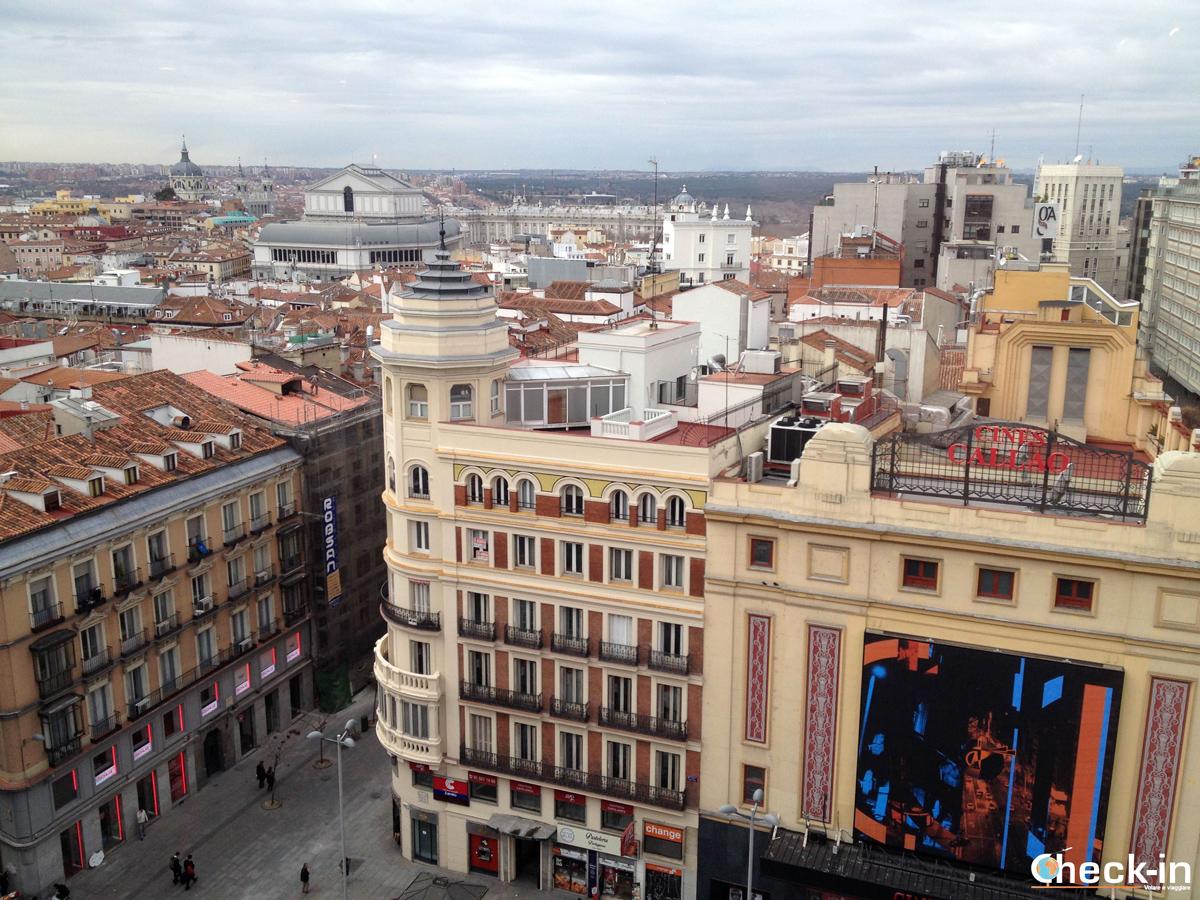 Vista panoramica su Madrid da Callao