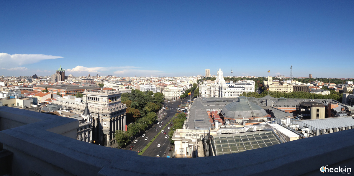 Vista panoramica su Madrid dal settimo piano del Círculo de Bellas Artes