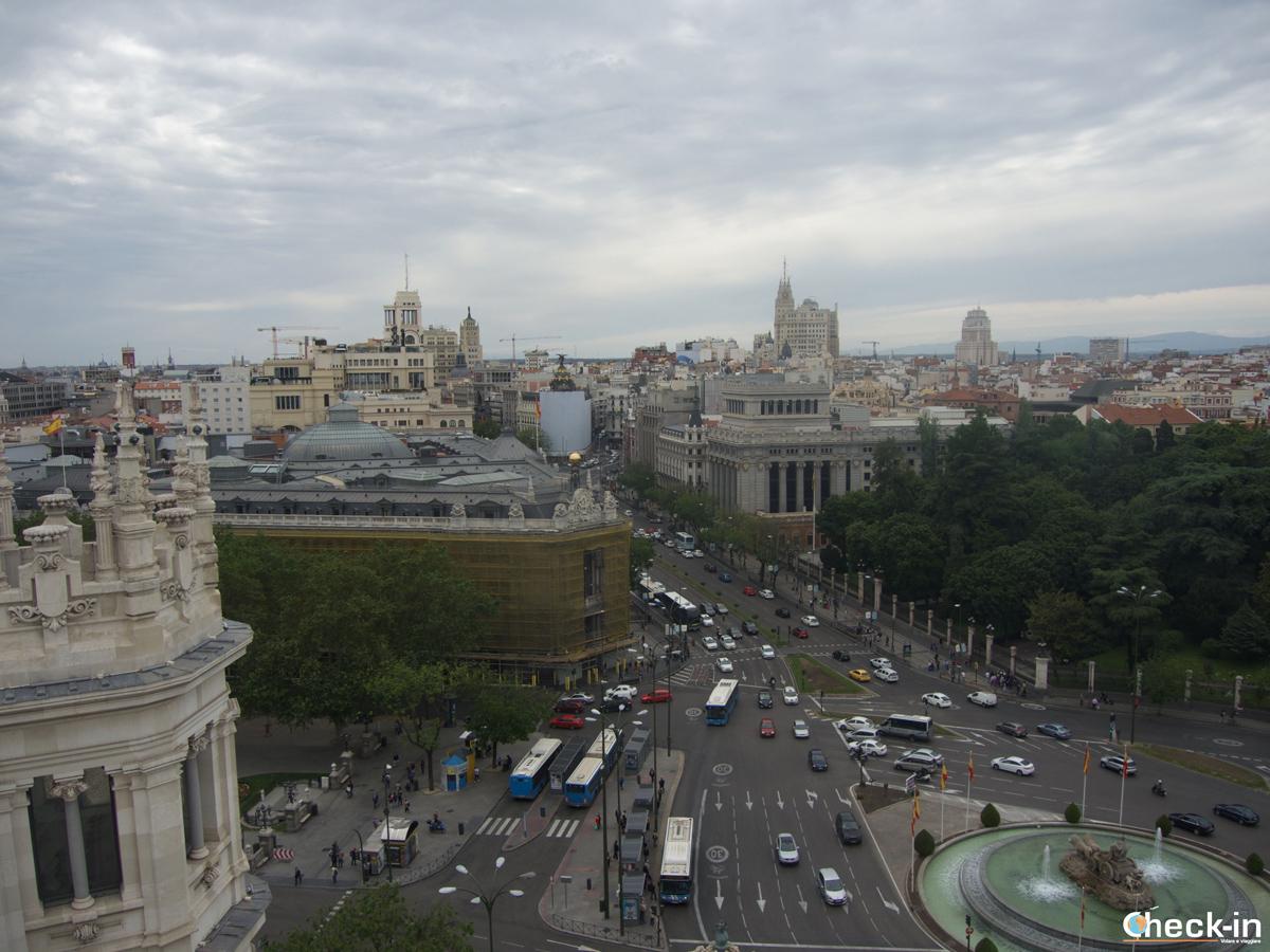 Mirador di Madrid, panorama da Palacio Cibeles