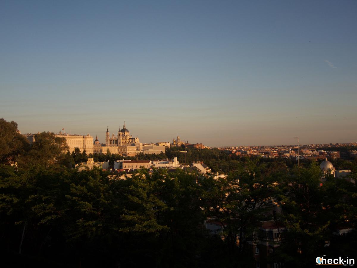 Terrazza panoramica sul Palacio Real di Madrid (e non solo)