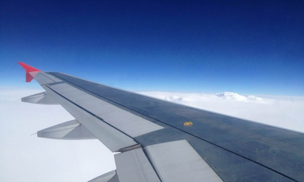 In volo con Air Malta sul cielo (nuvoloso) italiano