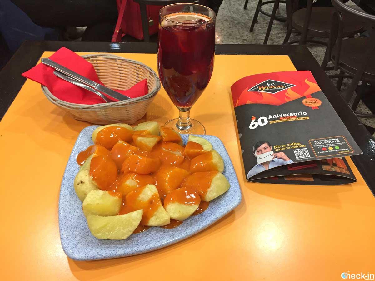 Patatas bravas, piatto tipico spagnolo creato a Madrid