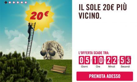 Offerte Volotea, codice sconto di 20€ per volare in Italia e Europa fino a novembre 2017