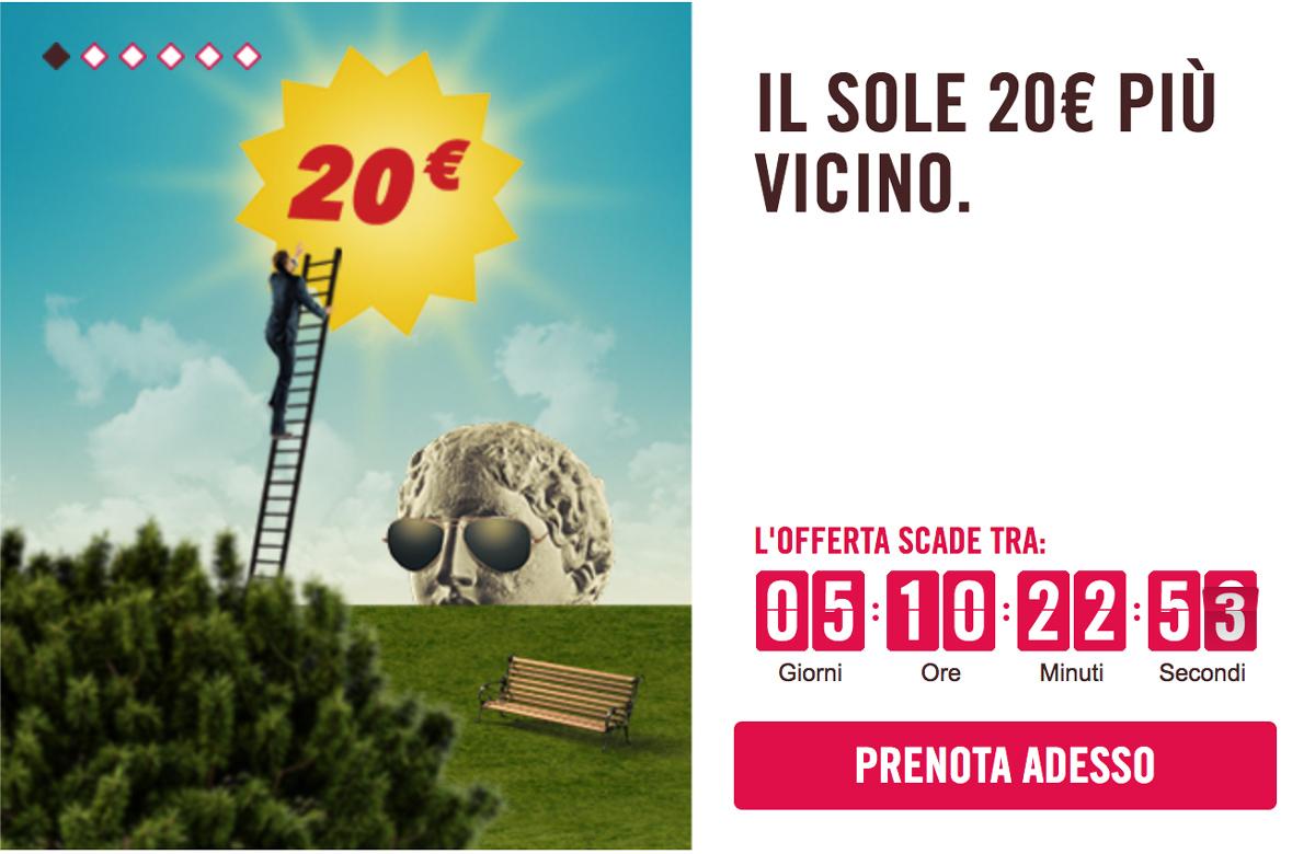 Codice sconto di Volotea per volare low cost da e per l'Italia