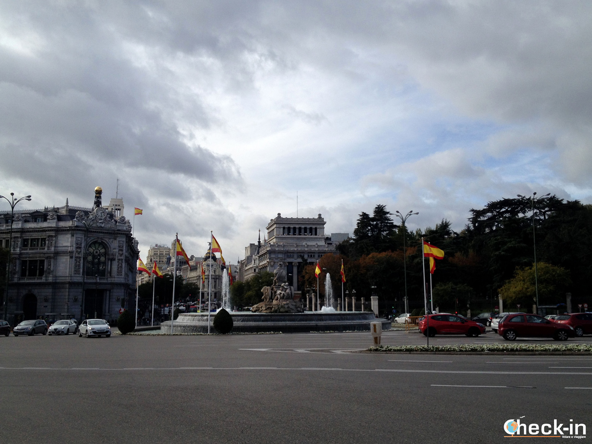 Cosa vedere a Madrid: calle Alcalá e Gran Vía visti da Plaza Cibeles