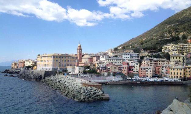 """Genova Nervi – Liguria a piedi con la passeggiata lungomare """"Anita Garibaldi"""""""
