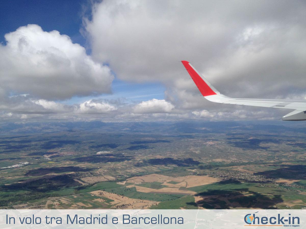 In volo su Barcellona da Madrid a Milano
