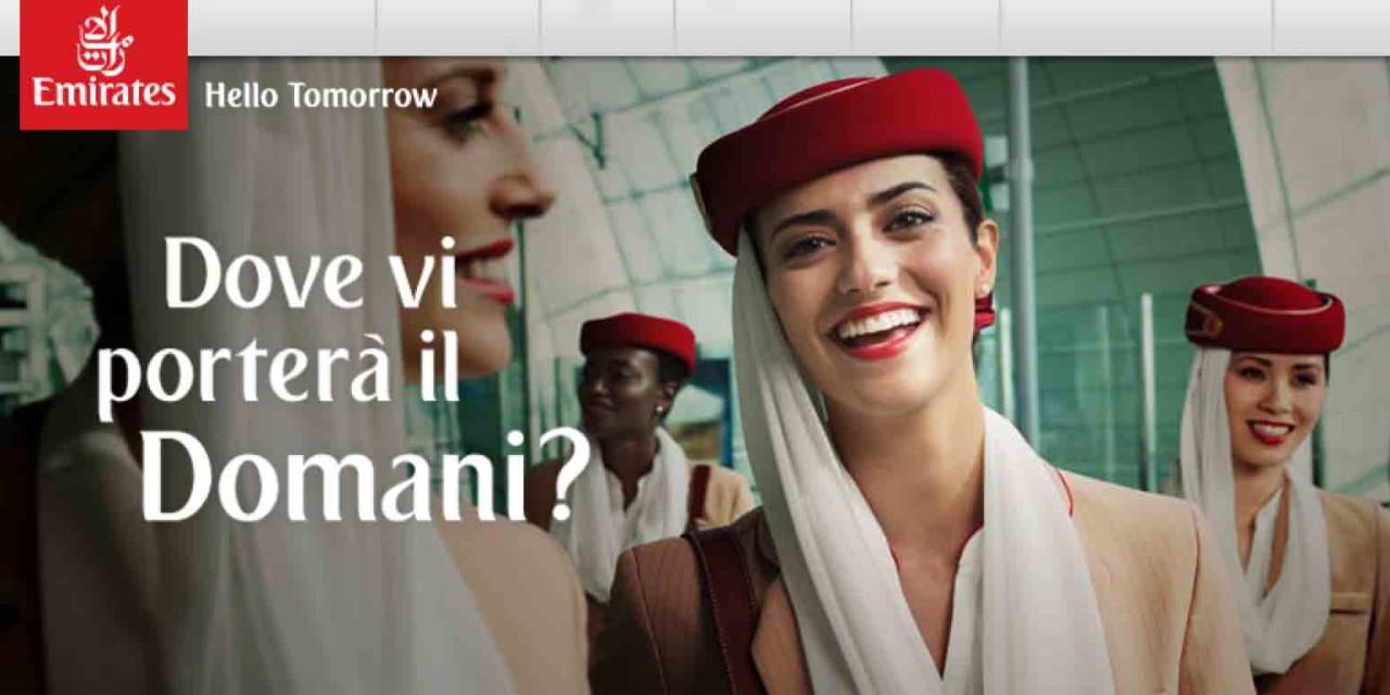 Offerte Emirates da Milano, Venezia, Bologna e Roma