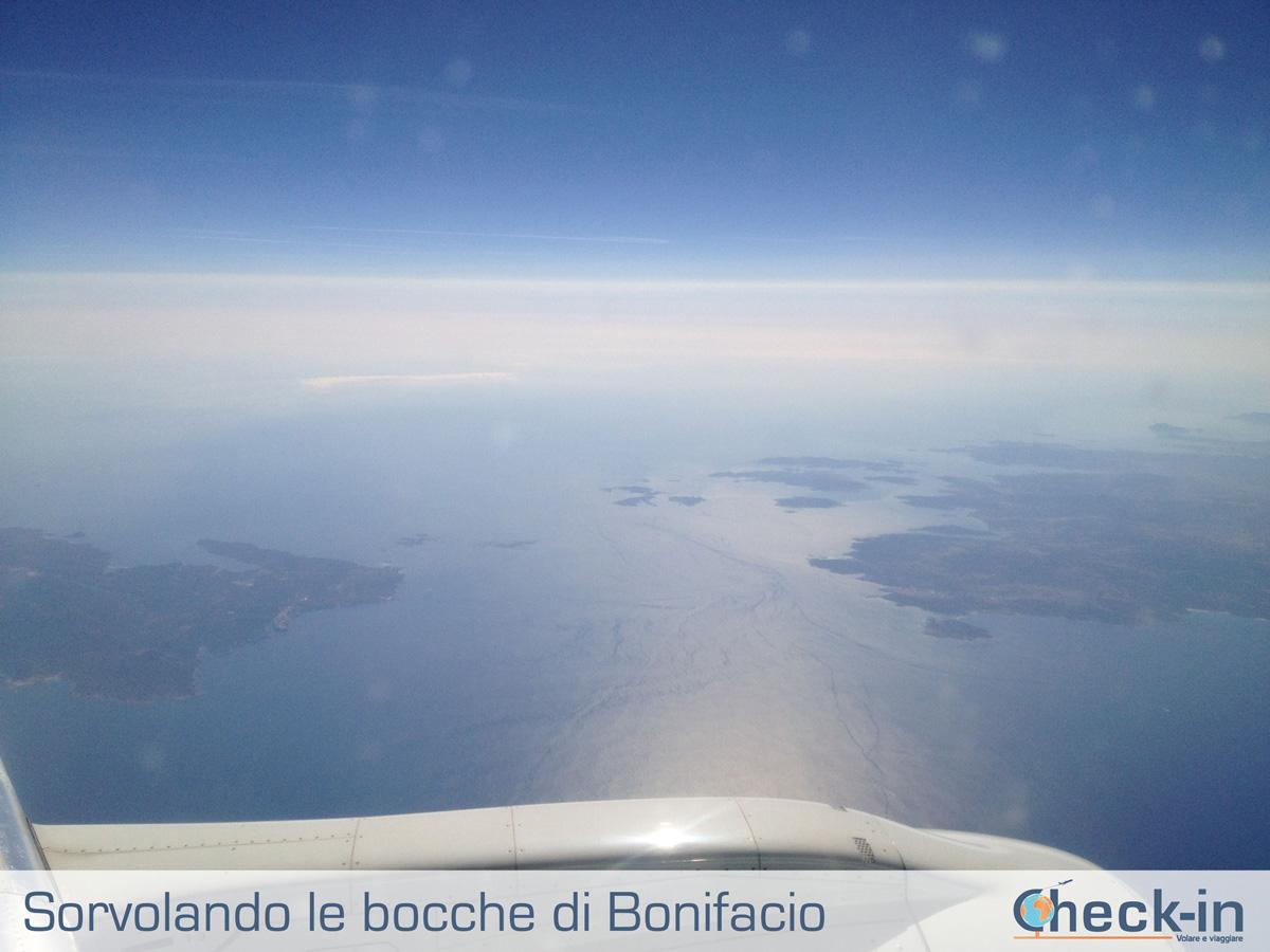 Da Milano a Cagliari, in volo sulle bocche di Bonifacio