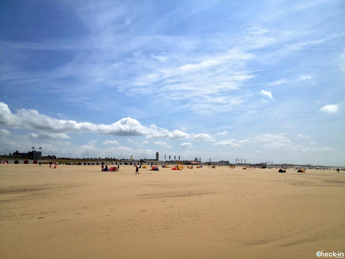 La spiaggia di Katwijk and Zee in Olanda