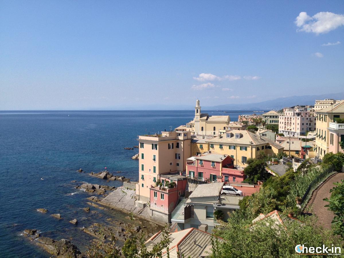 Da Genova Brignole a Boccadasse: vista da Capo di S. Chiara