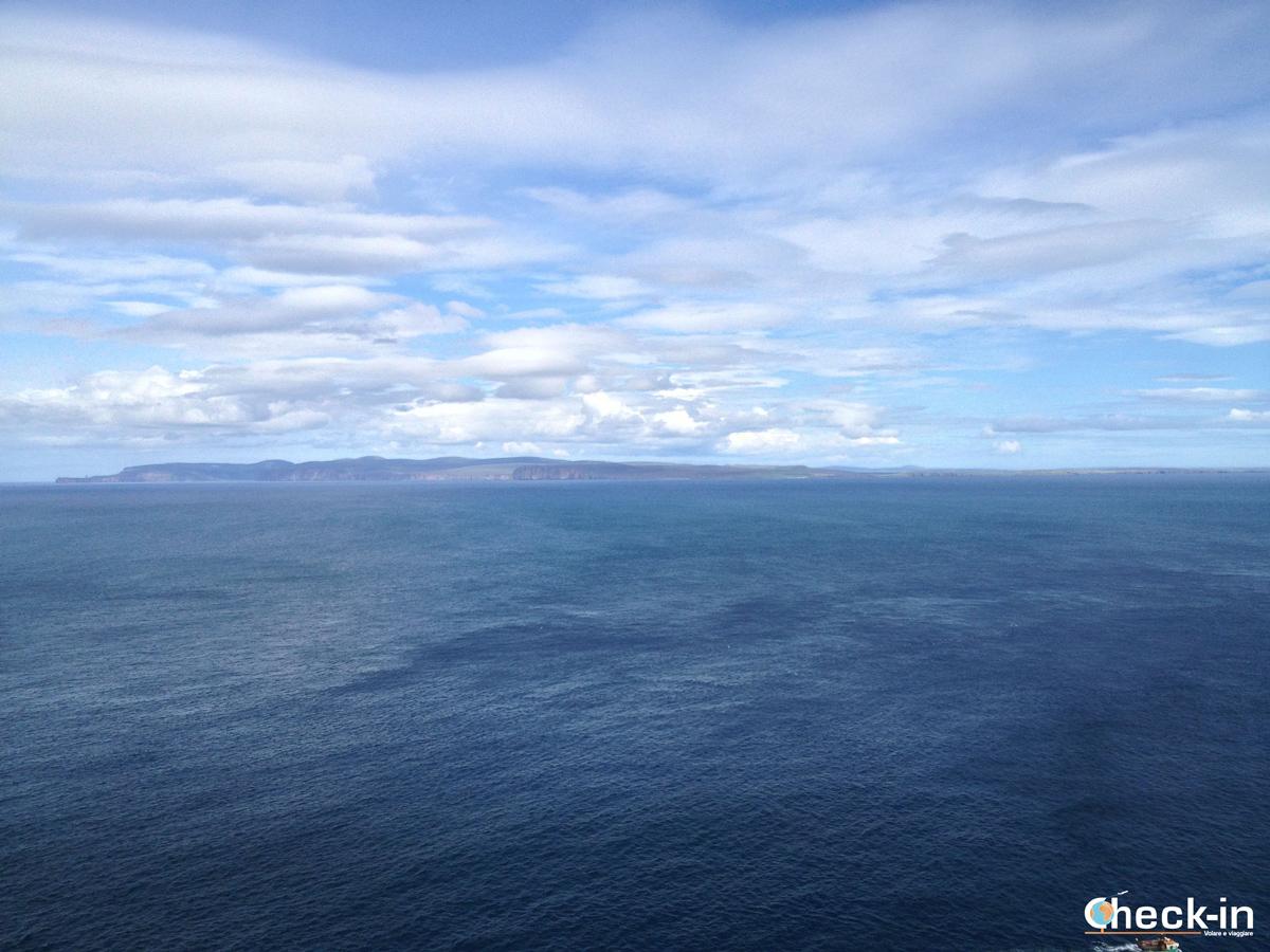 Le isole Orcadi viste dal Dunnet Head Lighthouse