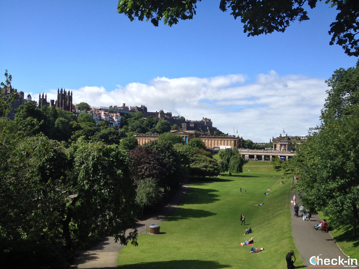 La New Town di Edimburgo: i Princes Street Gardens