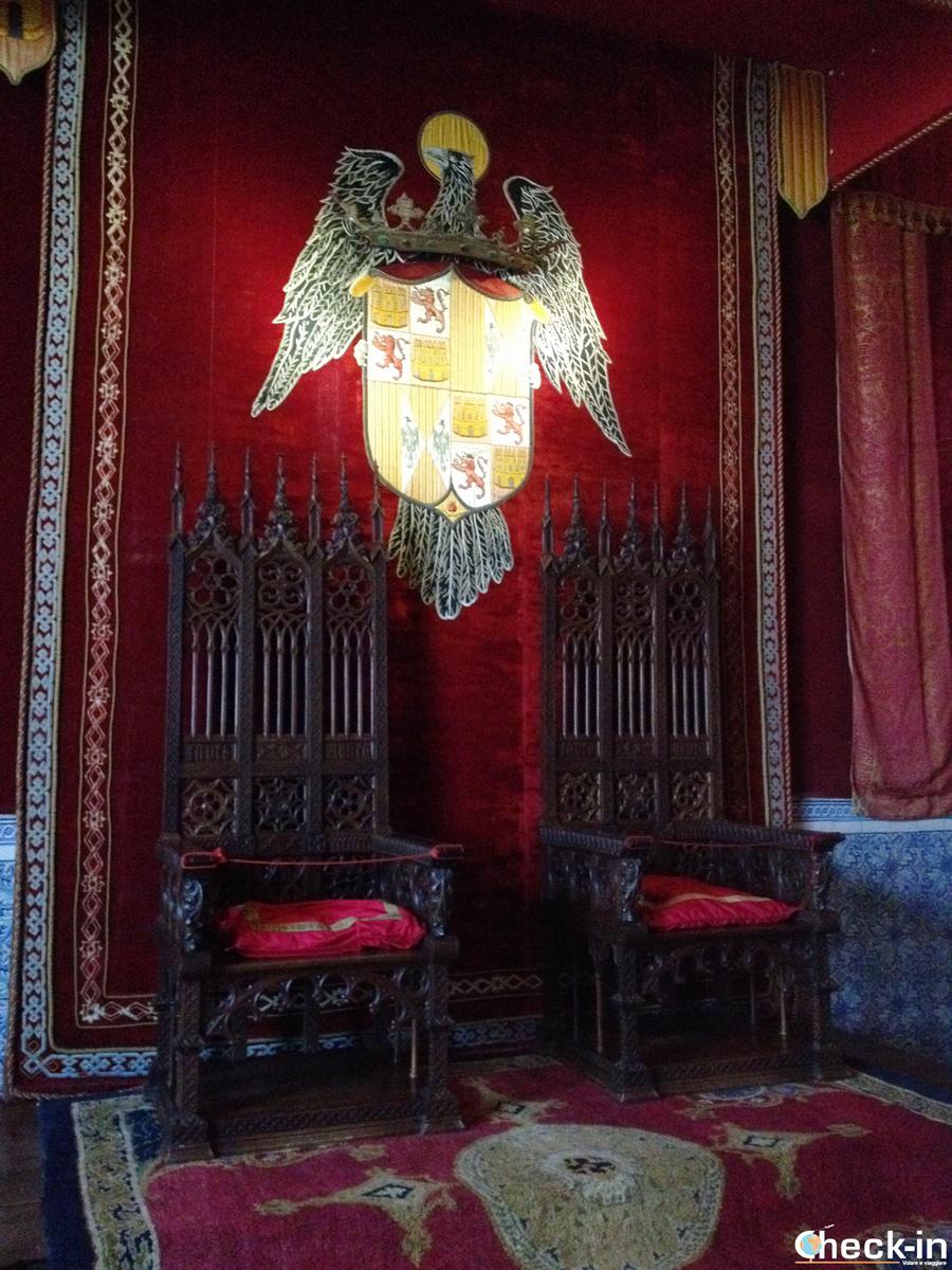 Cosa vedere nell'Alcázar di Segovia: sala del Trono