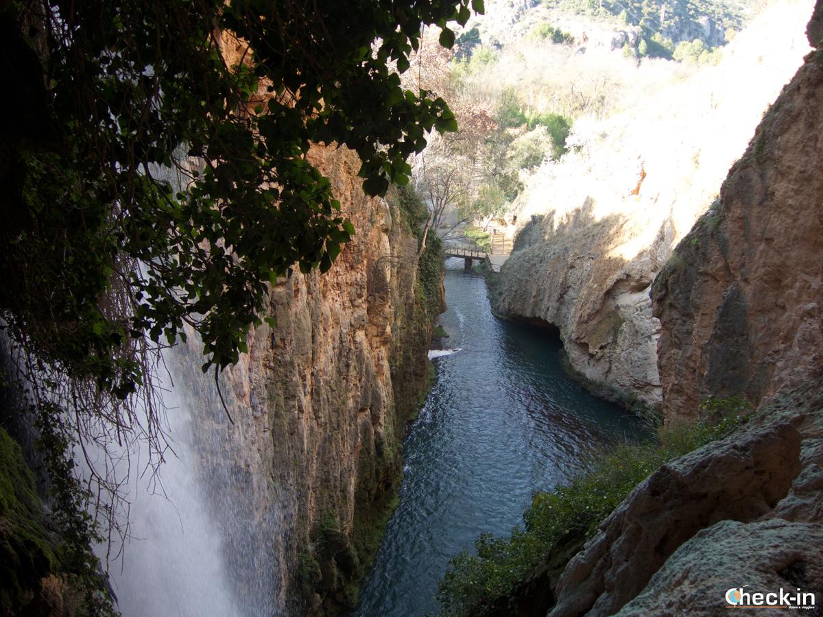 Il Parque del Monasterio de Piedra: passaggio sotto la cascata Cola de Caballo