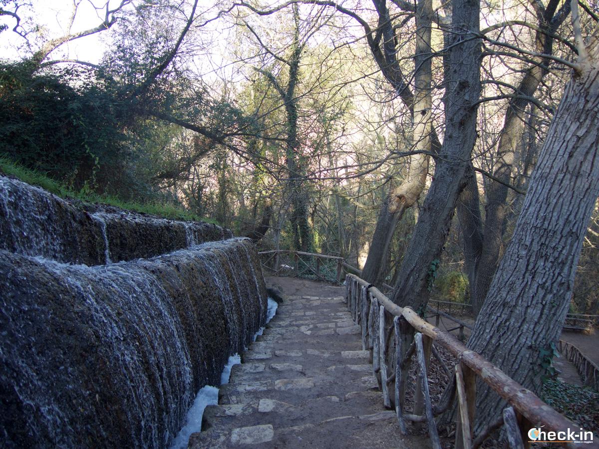 Sentiero nel cuore del Parque Natural del Monasterio de Piedra - Escursione vicino a Saragozza (Spagna)