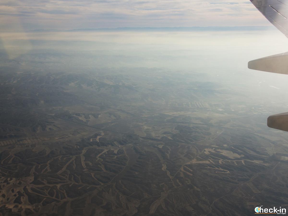 In avvicinamento all'aeroporto di Saragozza