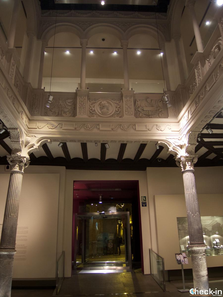 L'ingresso del Museo Goya-Colección Ibercaja di Saragozza