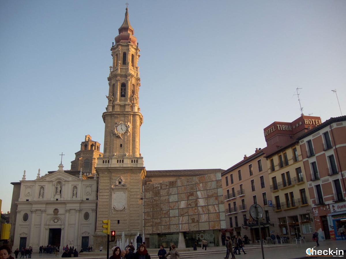 La Cattedrale di Saragozza e l'entrata al Foro Romano