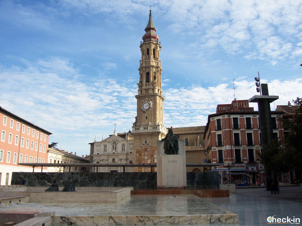 Cosa vedere nel centro storico di Saragozza: il Monumento dedicato a Goya