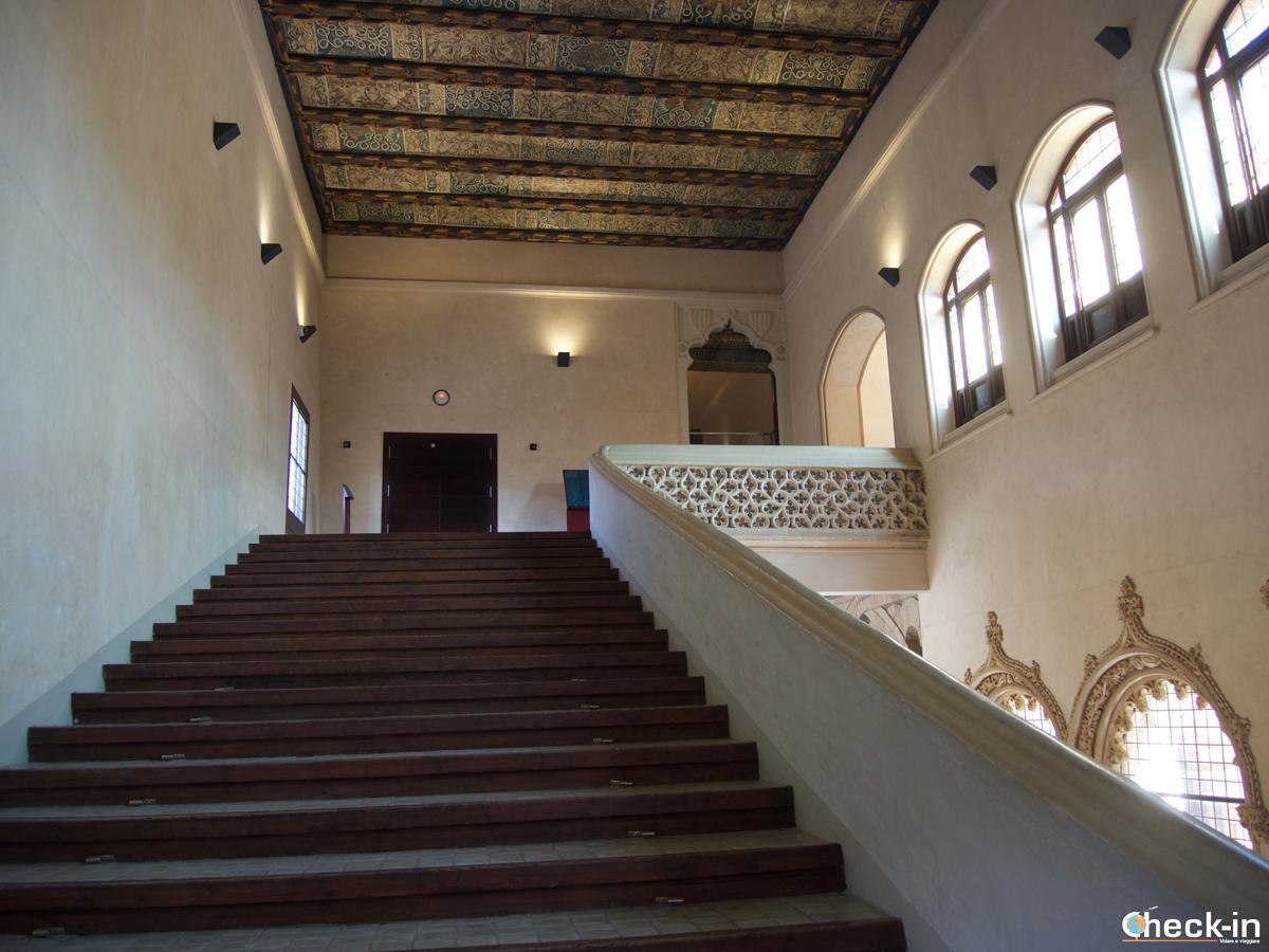 Centro storico di Saragozza: la scalinata dei Re nel Palacio de la Aljafería