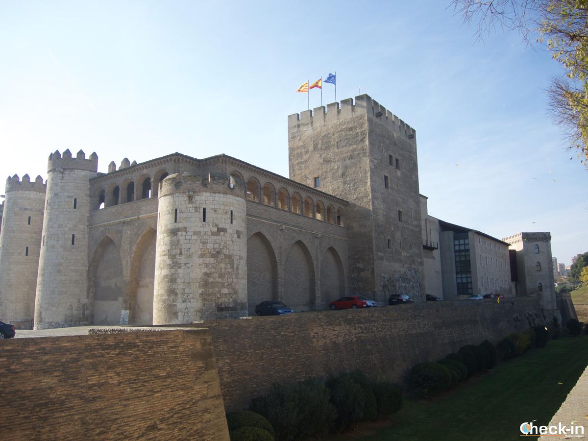 Cosa vedere nel centro storico di Saragozza: la Torre del Trovador nel Palacio de la Aljafería