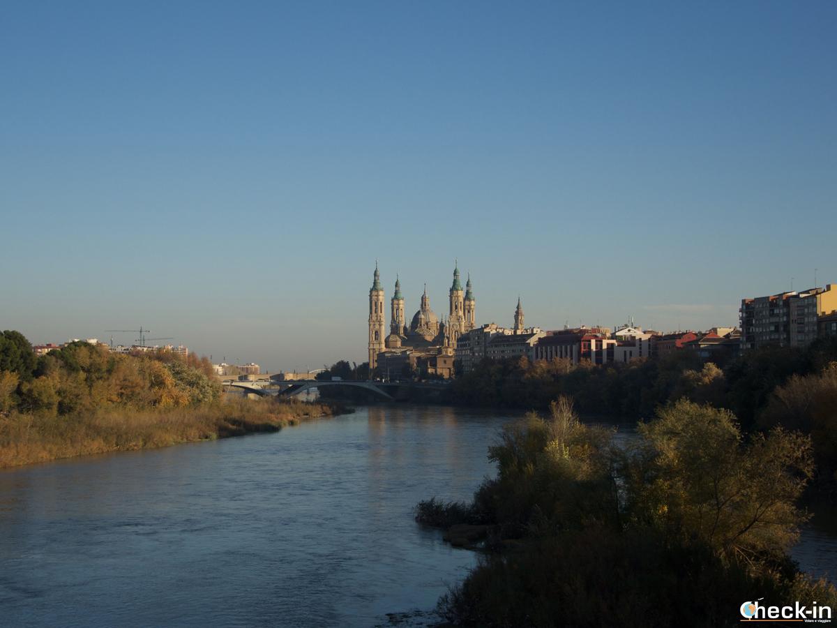 Cosa vedere nel centro storico di Saragozza: vista dal Puente de la Almozara