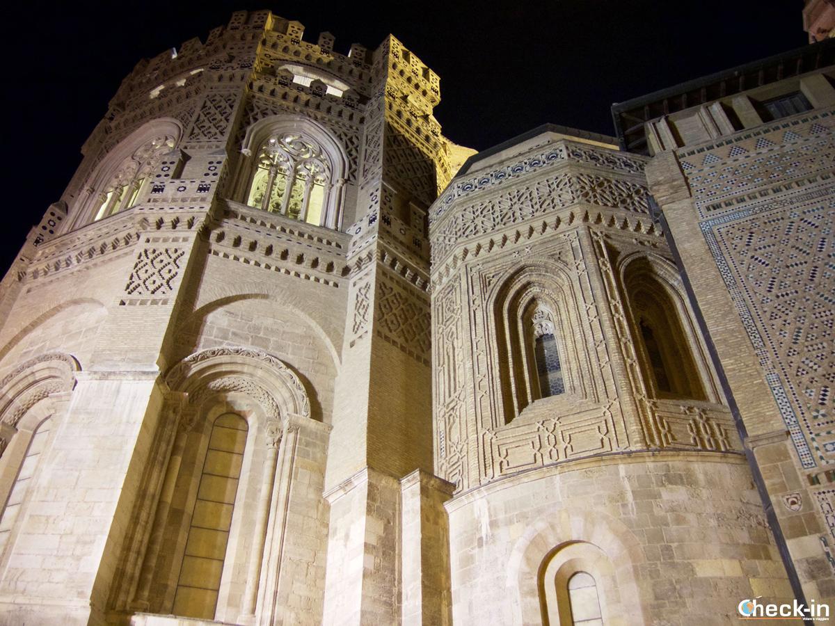 Centro storico di Saragozza: la parete mudéjar della Cattedrale