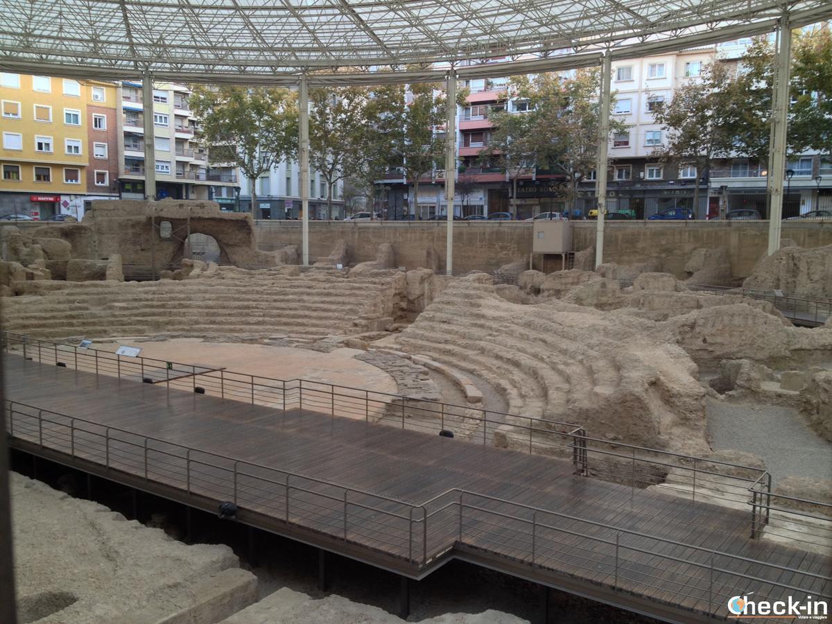 I resti del Teatro Romano nel cuore di Saragozza