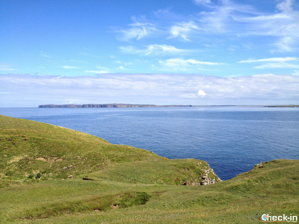 Caithness: scorcio di Dunnet Head sulla costa opposta