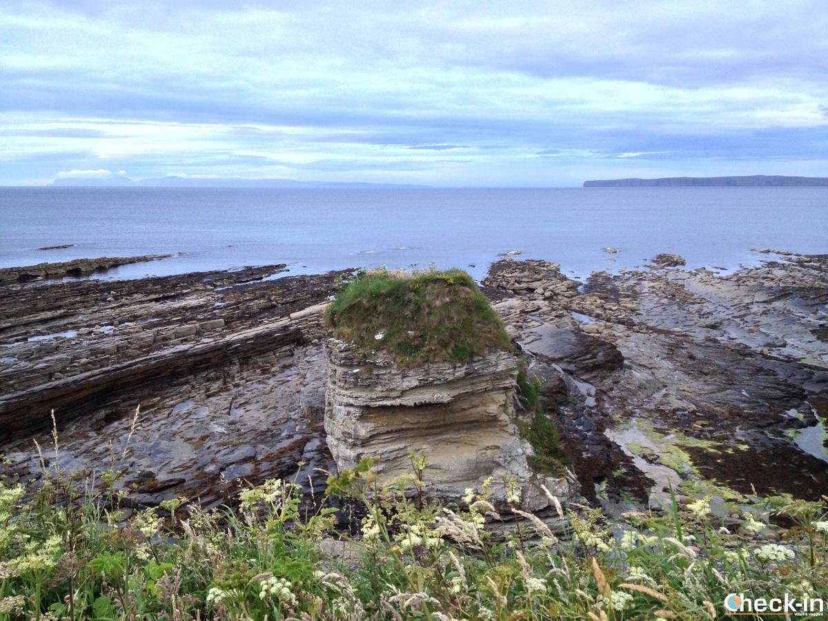 Caithness: formazioni rocciose particolari lungo la Victoria Walk