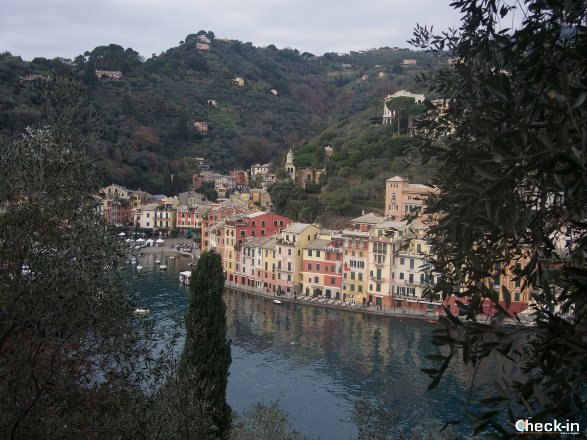 Passeggiata da Santa Margherita a Portofino: vista dal Castello Brown
