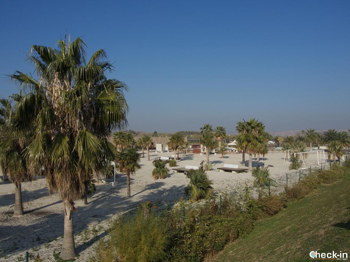 Zaragoza Expo 2008: la spiaggia fluviale