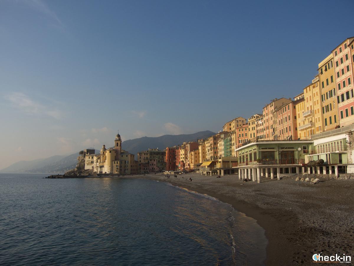 Passeggiata a Camogli: relax in spiaggia
