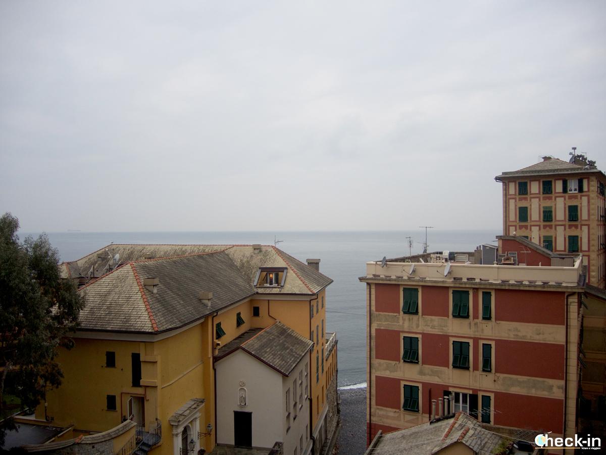Passeggiata a Camogli: terrazza con vista mare