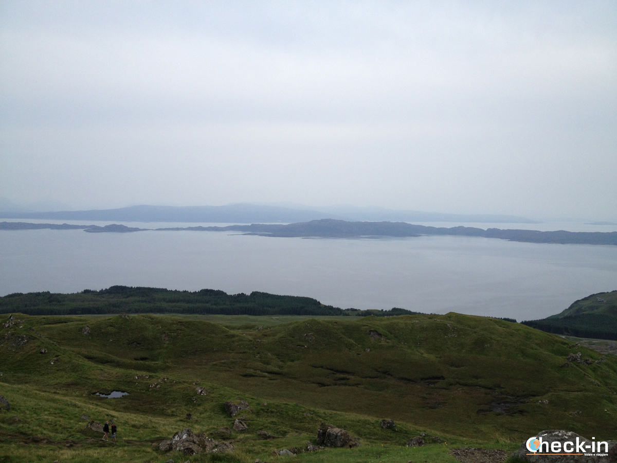 Il canale di Raasay che divide l'isola omonima dall'isola di Skye