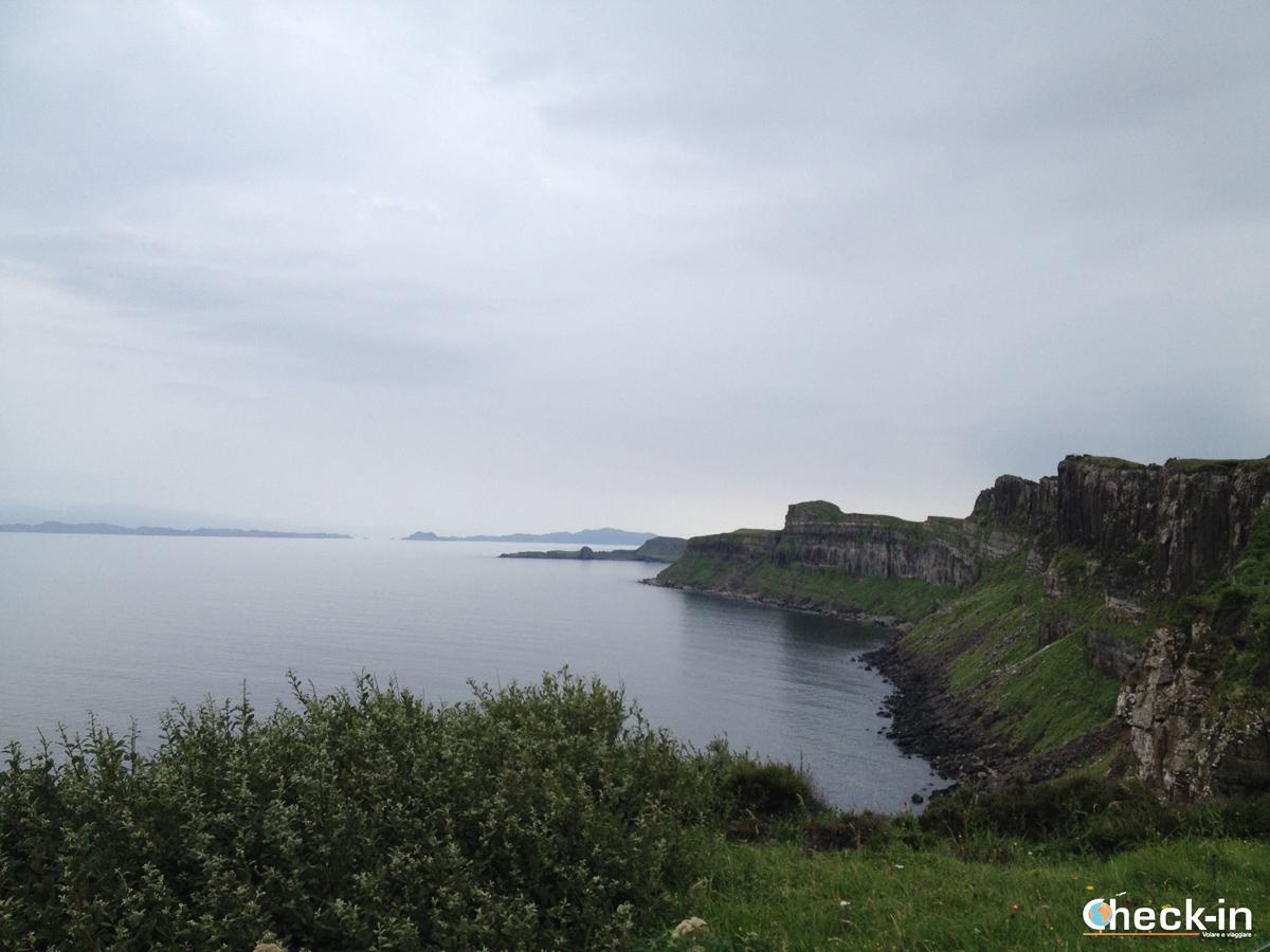 Kilt Rock, la costa settentrionale dell'isola di Skye